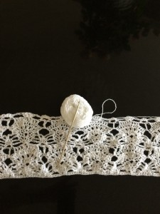 Heklet hvit kjole prosjekt 2